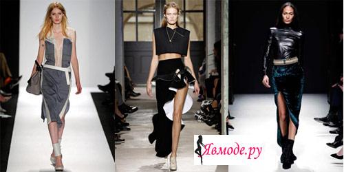 Модные юбки 2013 – юбка с разрезом