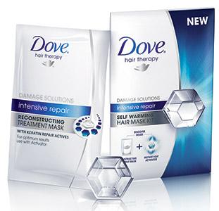 В 2013 году Dove совершает перезапуск всех линий средств по уходу за волосами