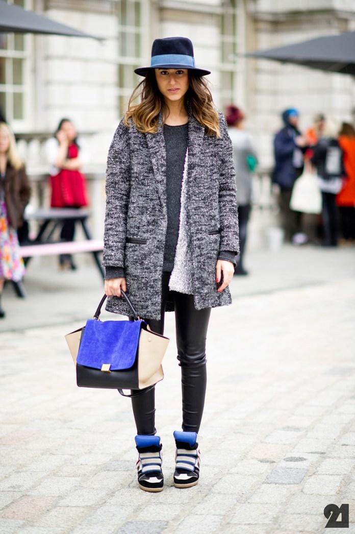 Кроссовки на платформе - с чем носить?