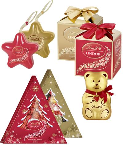 Шоколад Lindt в преддверии Нового года