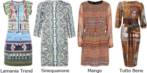 Платья фрески - модные тренды 2014 года