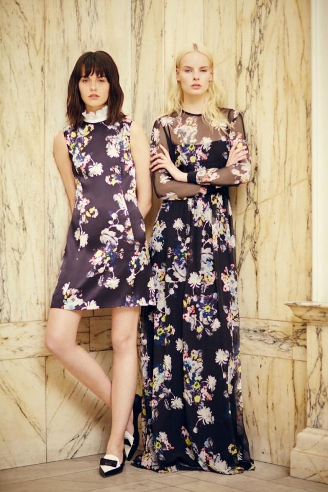 Фото модного платья с цветочным принтом – Erdem весна-лето