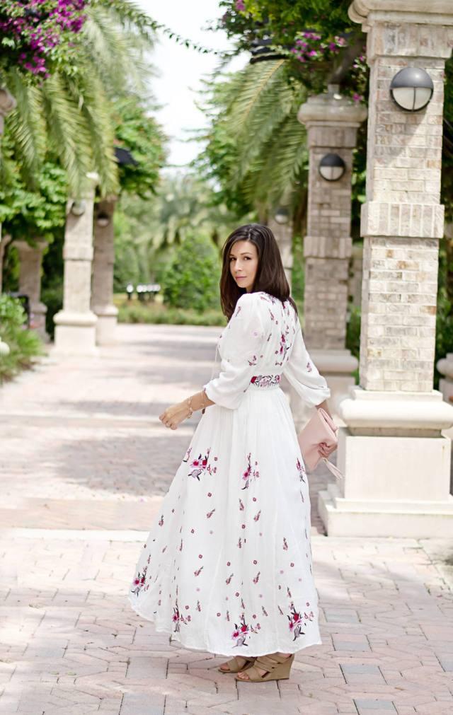Длинное платье в стиле бохо шик