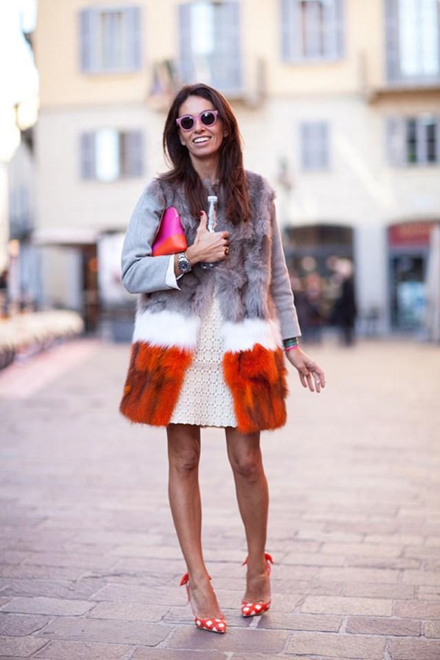 Модная разноцветная шуба – фото новинка сезона