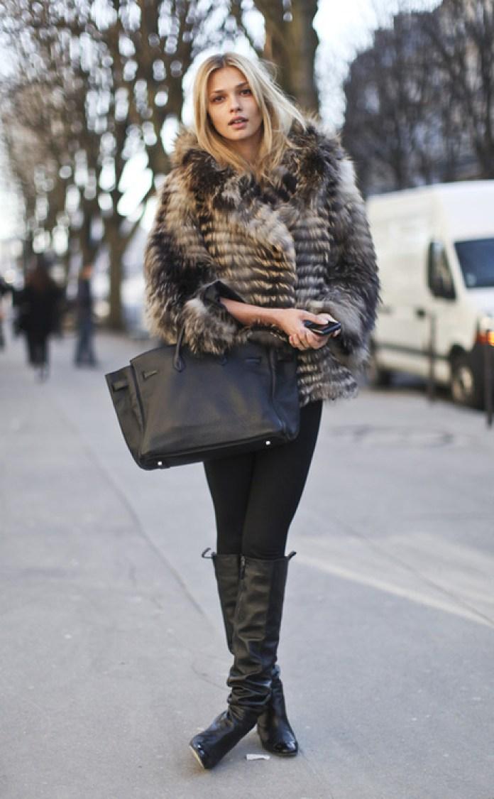 Модная короткая шуба – фото новинки сезона