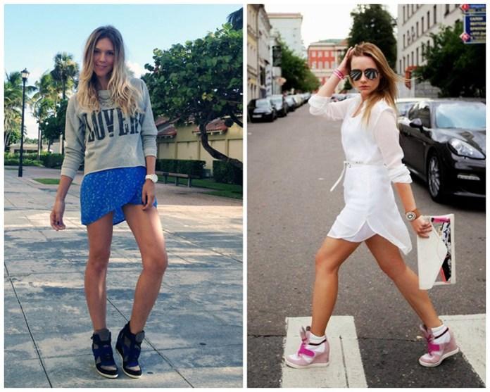 С чем носить кеды сникерсы? Сочетание сникерсов с юбками.