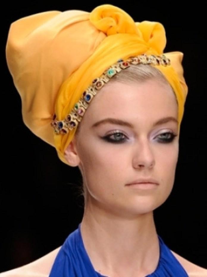 Фото, как красиво завязать платок тюрбан на голове