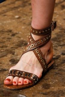Босоножки на плоской подошве Donna Karan