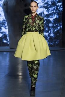 Модная юбка солнце салатового цвета осень-зима 2014-2015 - Kenzo