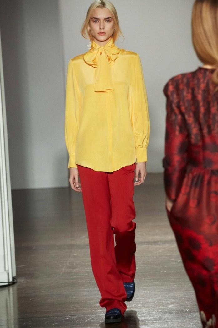 Желтая модная рубашка 2015 – фото новинка от Mother of Pearlc