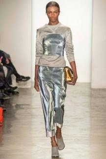 Блестящие широкие модные брюки осень-зима 2014-2015 - Ostwald Helgason