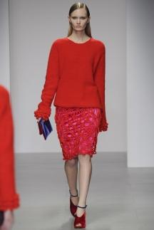 Красная модная кофта с длинными рукавами осень-зима 2014-2015 – Emilio de la Morena