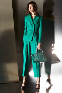 Яркий модный зеленый пиджак осень-зима 2014-2015 – Escada