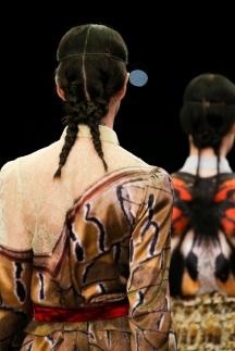 Модная прическа косы в сезоне осень-зима 2014-2015 – Givenchy