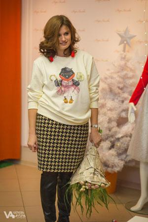 """лимитированная коллекция со снегирями в главной роли была презентована в Домике Моды """"Надя Хохлова"""""""