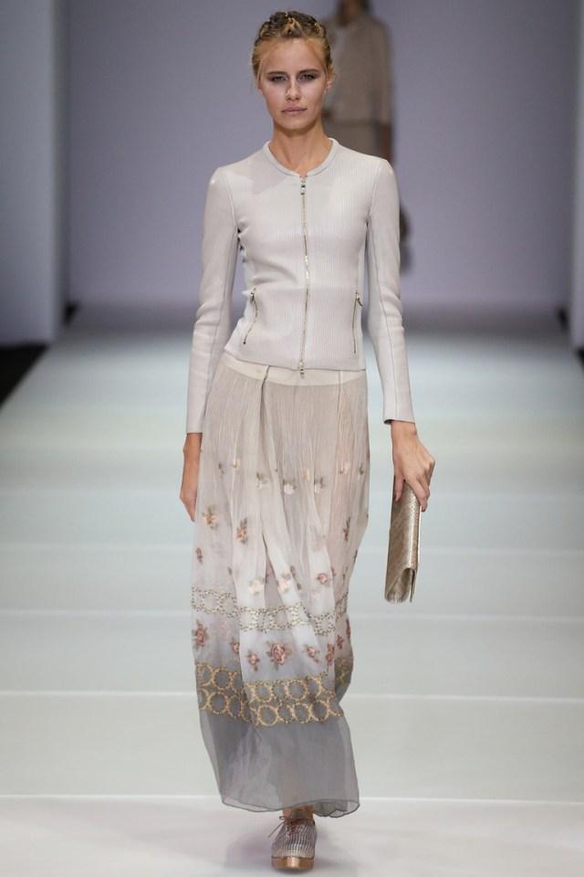 Длинная прямая модная юбка — Giorgio Armani