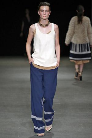 Широкие синие модные брюки весна лето 2015 - By Malene Birger