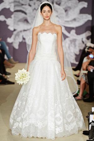 Пышное свадебное платье Carolina Herrera весна лето 2015