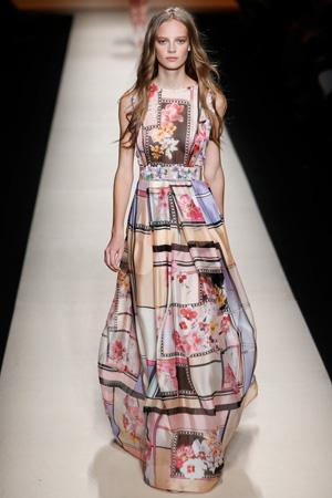 Красивое длинное платье 2015 с интересным принтом – Alberta Ferretti