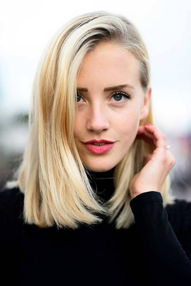 Прямая стрижка со средними волосами