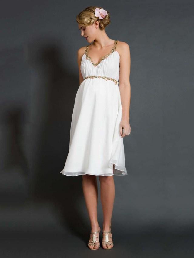 Белое платье для беременных – фото модного фасона платья