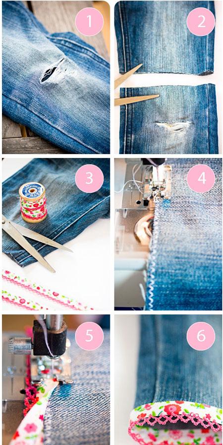Фото джинсовых шорт из старых джинсов своими руками