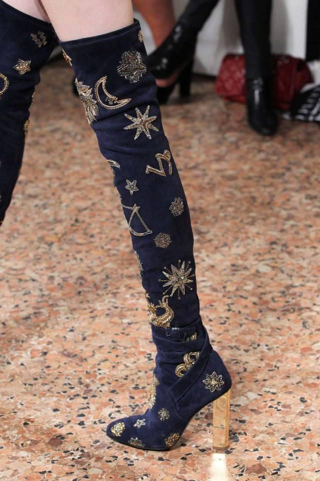Модные сапоги ботфорты осень 2015-зима 2016 - фото новинка сезона в коллекции Emilio Pucci