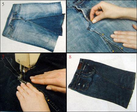 Фото джинсовых юбок из старых джинсов своими руками