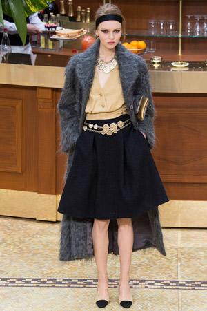 Длинное модное шерстяное пальто осень-зима 2015-2016 –