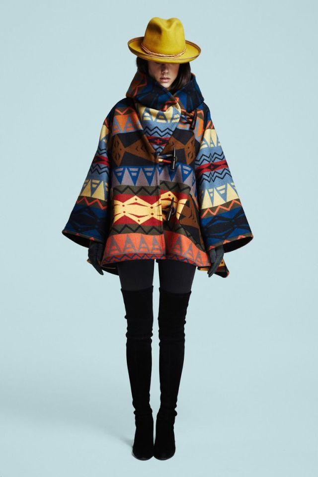 Модное пончо-пальто 2016 – фото Lindsey Thornburg