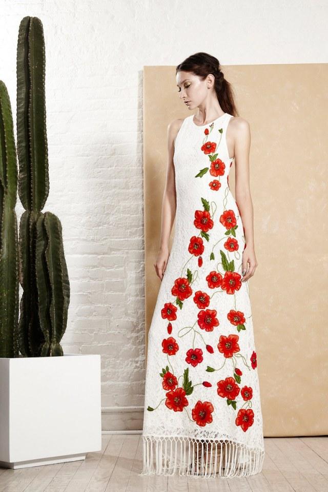 Кружевное модное платье 2016 году с рисунками – фото новинки в коллекции Alice+Olivia
