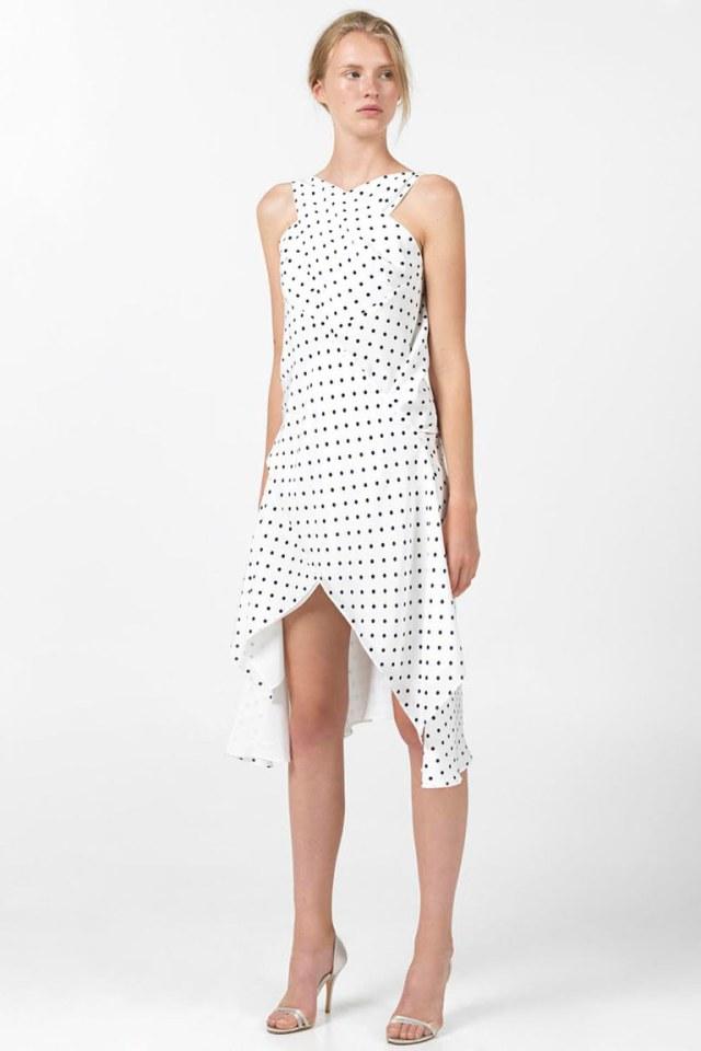 Модное короткое платье 2016 в горошек – фото новинки в коллекции Angelos Br