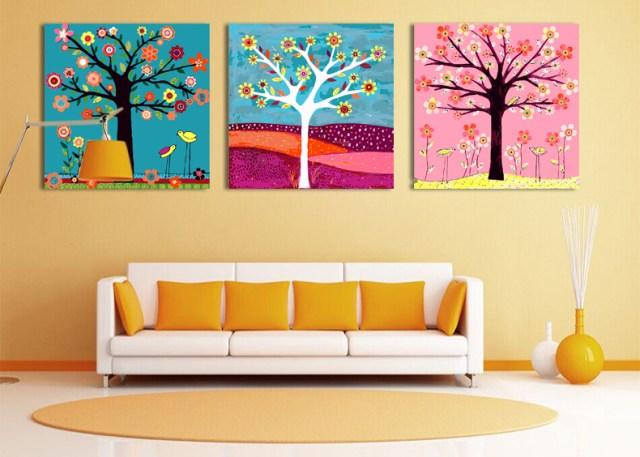 Фото, как модульные картины украшают интерьер любого дома