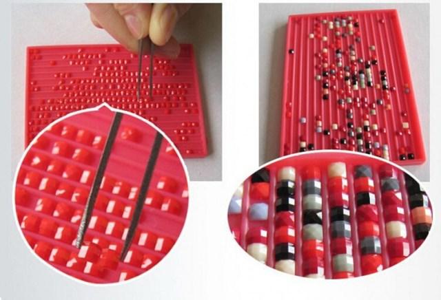 Процесс создания модульной картины со стразами своими руками