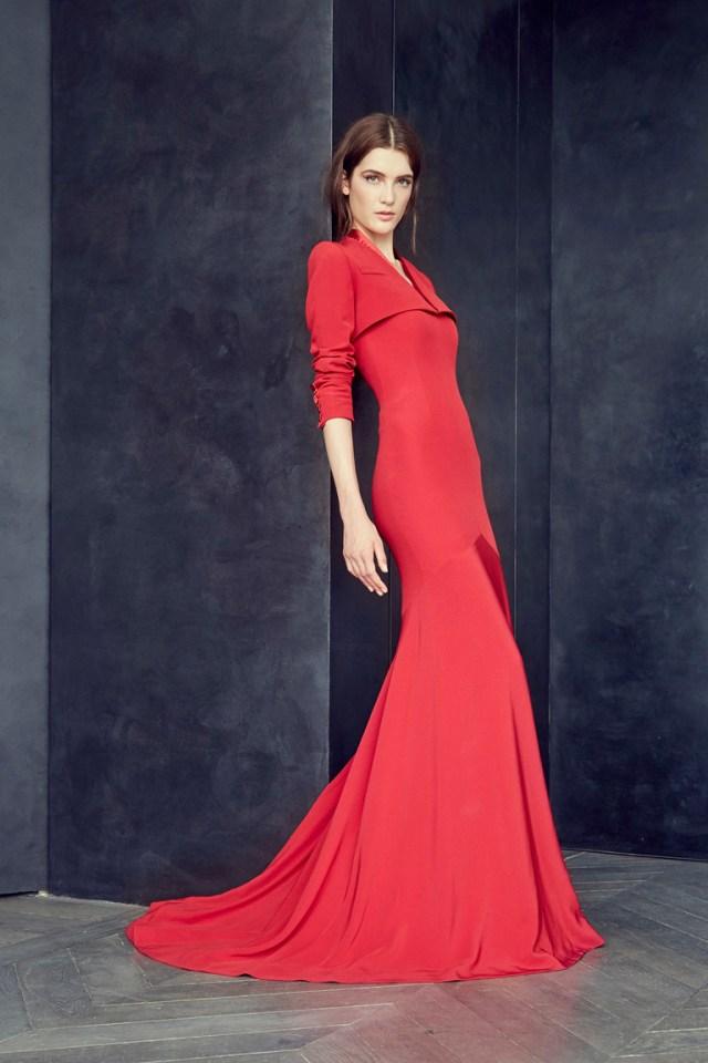 Красное платье на Новый год 2016 – фото новинка от Alexis Mabille