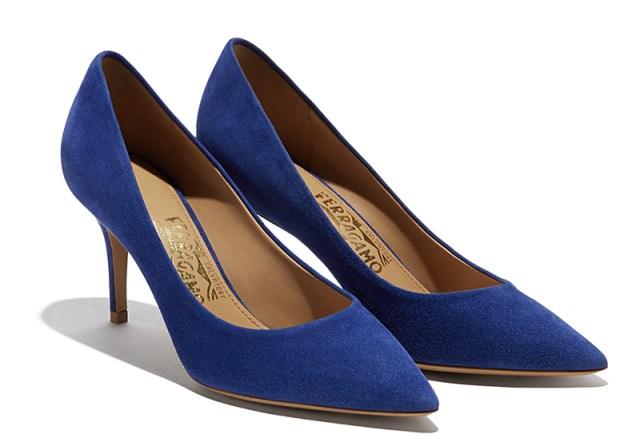 Синие модные туфли - фото новинка от Salvatore Ferragamo