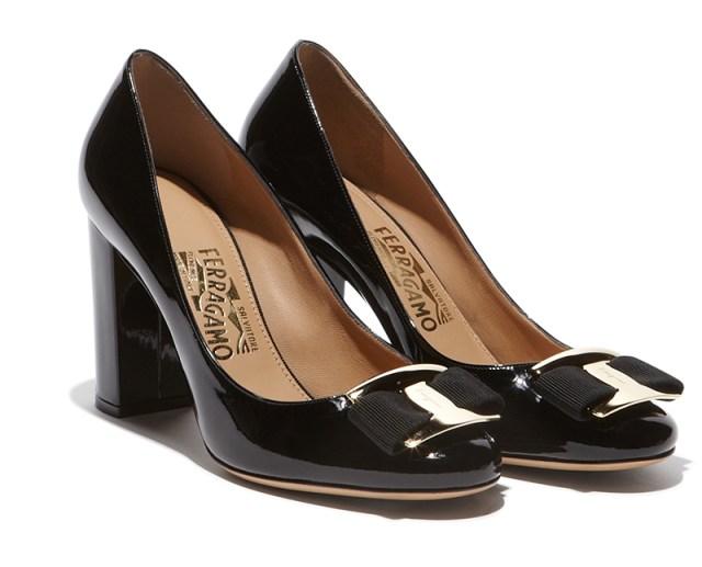Модные туфли на толстом каблуке - фото новинка от Salvatore Ferragamo