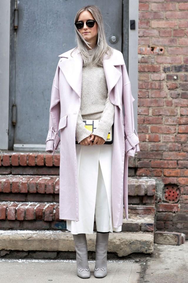 Бежевое длинное пальто – фото, с чем носить пальто