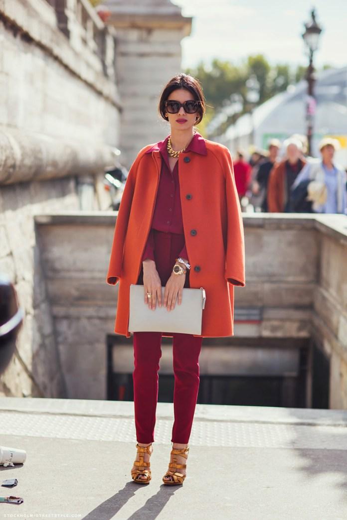Красное пальто – фото новинка сезона