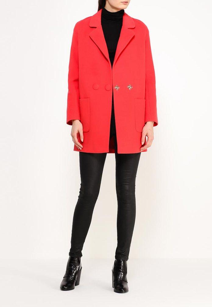 Красное пальто оверсайз Grand Style, примерная цена в Интернет-магазинах 16 099 руб