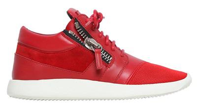 Красные модные кроссовки – фото новинки в новой коллекции Giuseppe Zanotti