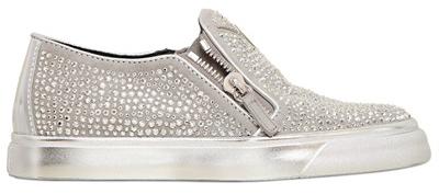 Кеды со стразами - обувь из новой коллекции Giuseppe Zanotti