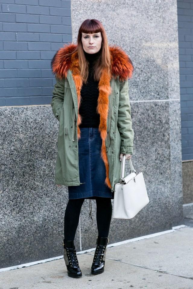 Фото новинки и тенденции: куртка парка с рыжим мехом