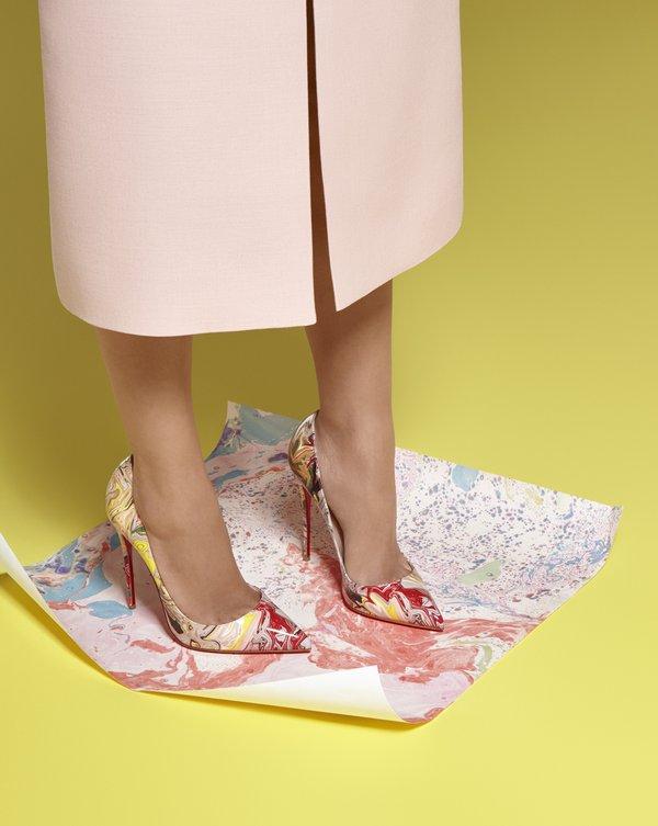 Красочные туфли лабутены – фото новинки последней коллекции