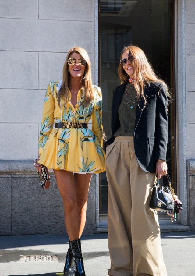 Безумно широкие и очень свободные брюки в сезоне весна-лето 2016. Тоже интересная модель, правда, в использовании не очень удобная варианты сочетания ulichnay-moda-Milan-vesna-2016