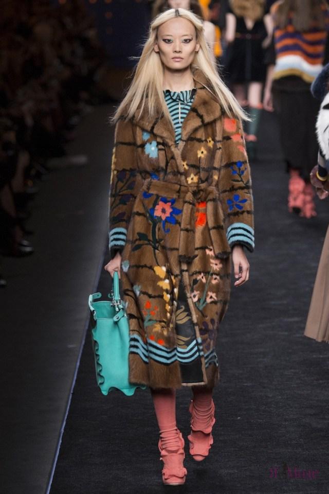Меховая коллекция Fendi на неделе моды в Милане