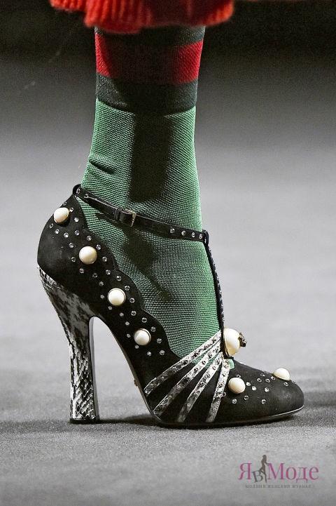 Прекрасные туфли с носочками – фото новинки в коллекции GUCCI осень-зима 2016-2017
