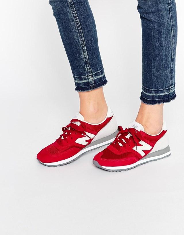 Красные кроссовки New Balance 620
