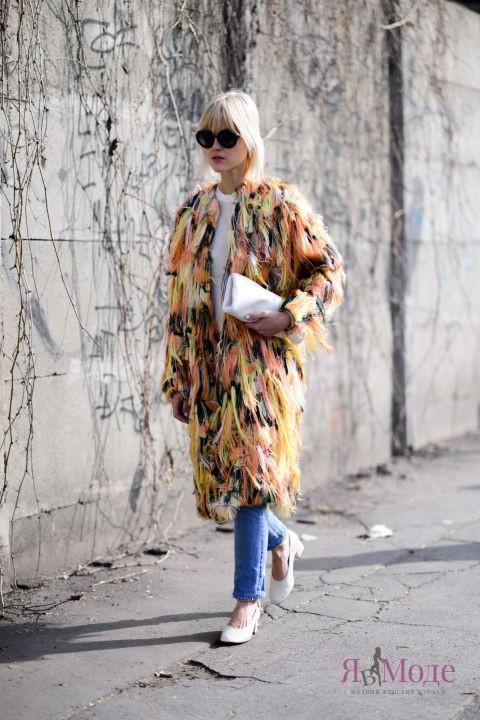 Верхняя одежда на улицах Милана