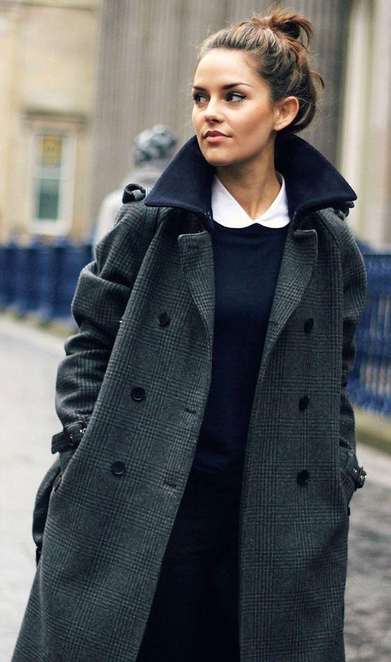 Фото новинки: женское пальто в клетку весны 2016